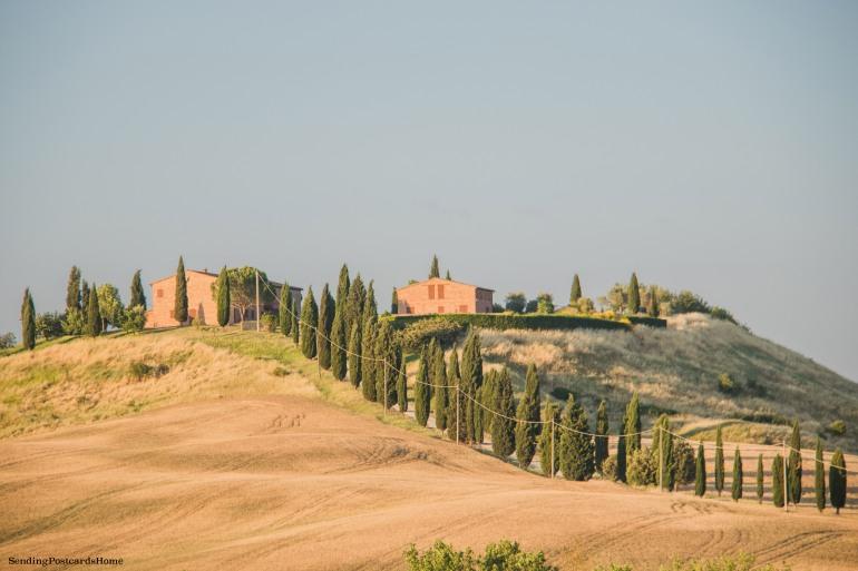 Asciano, Tuscany, Italy - Sunset view, Travel blog 10