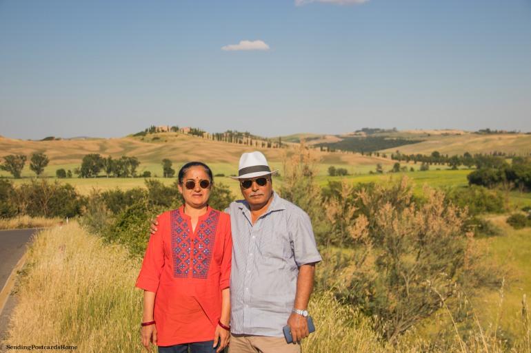 Asciano, Tuscany, Italy - Sunset view, Travel blog 12