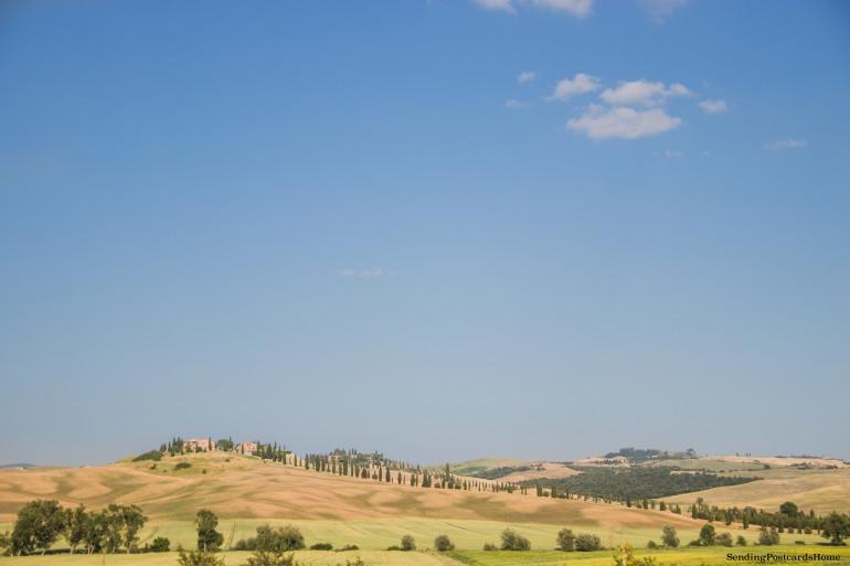 Asciano, Tuscany, Italy - Sunset view, Travel blog 13