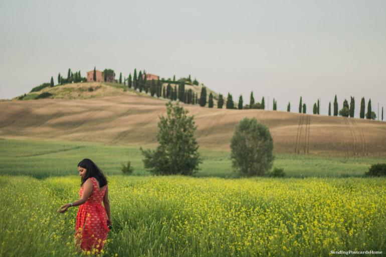 Asciano, Tuscany, Italy - Sunset view, Travel blog 3