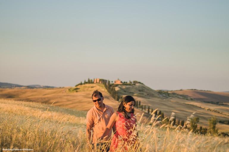 Asciano, Tuscany, Italy - Sunset view, Travel blog 7