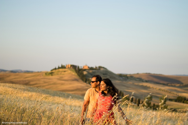 Asciano, Tuscany, Italy - Sunset view, Travel blog 8