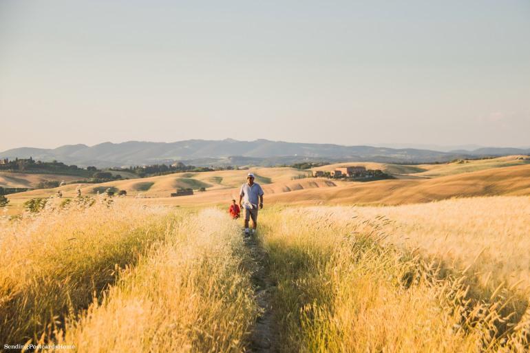 Asciano, Tuscany, Italy - Sunset view, Travel blog 9